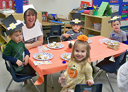 Children in the district's Employee Child Care program celebrated fall with a parade and pumpkin pa